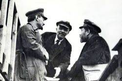 Trotsky, Lenin and Kamenev in 1919.